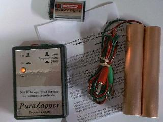 ParaZapper � parasite zapper with standard copper paddles.