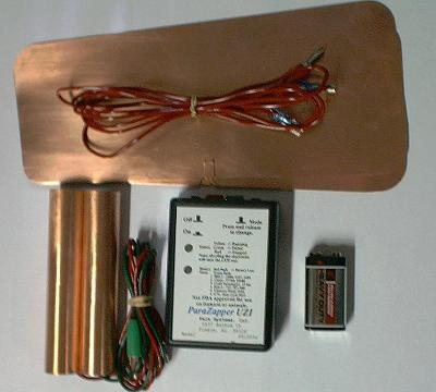 ParaZapper � UZI parasite zapper with copper paddles and copper pads.